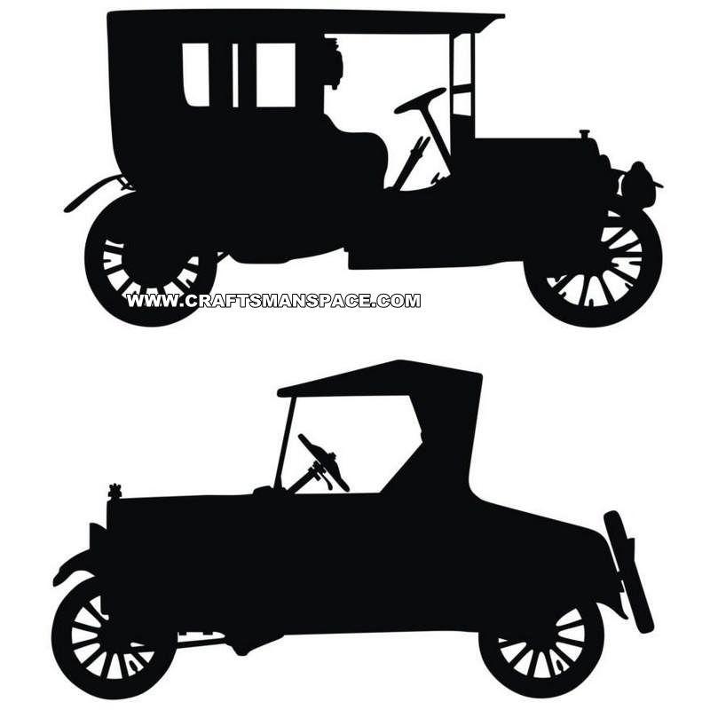 Old car silhouettes | Crafts | Pinterest | Drucken