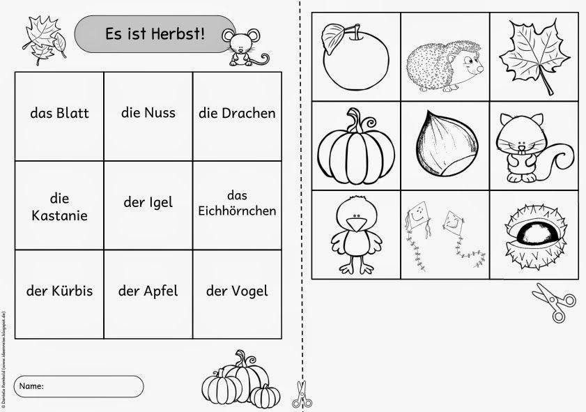 Einfache Lesegitter für DAZ (Herbst und Halloween) | Halloween ...
