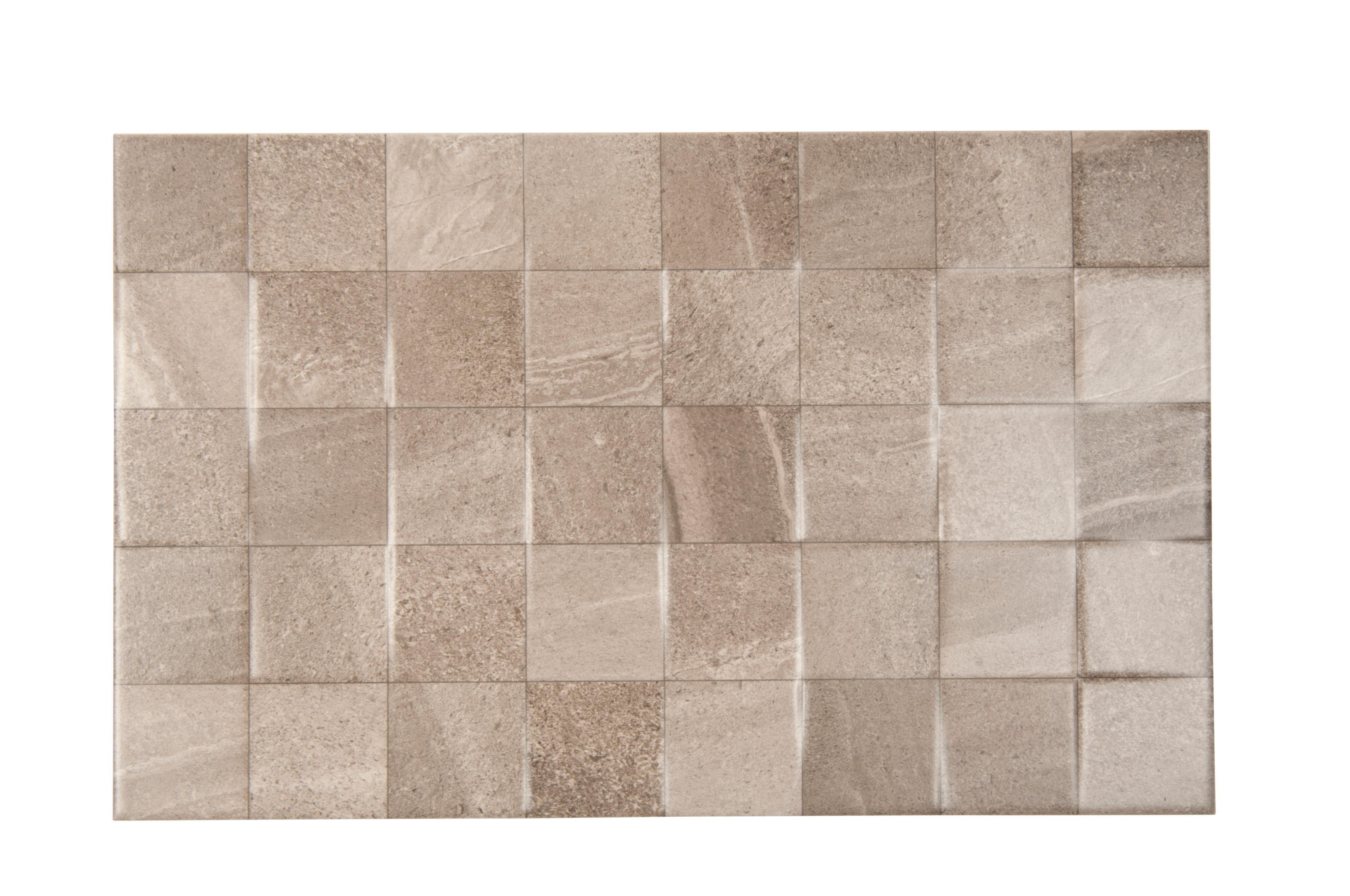 Fiji Grey Ceramic Wall Tile, Pack of 10, (L)400mm (W)250mm ...