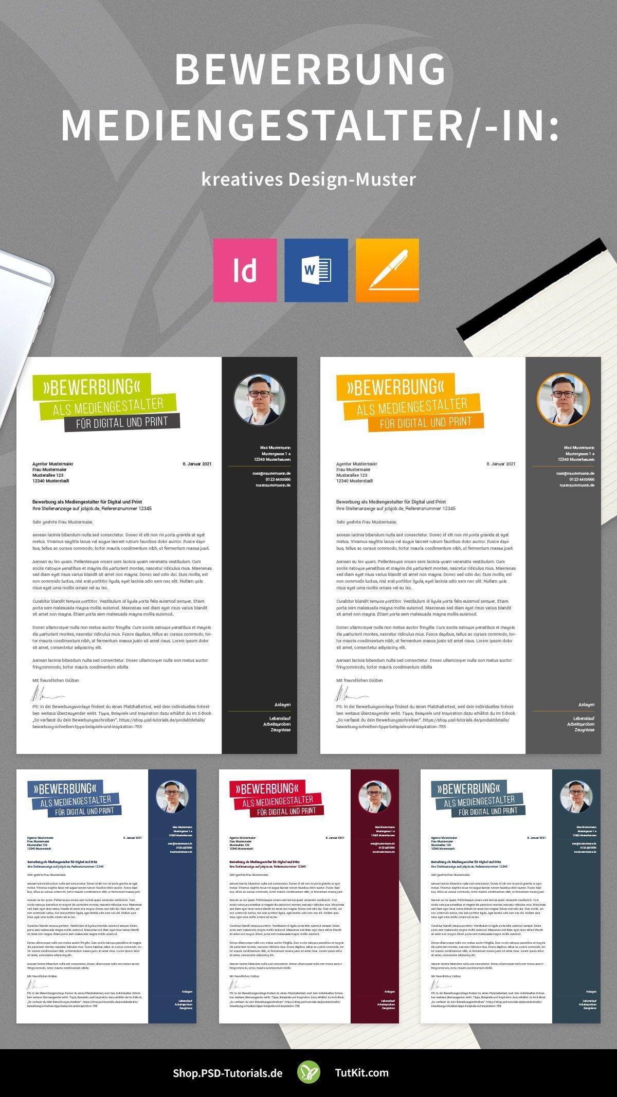 Bewerbung Mediengestalter In Kreatives Design Muster In 2020 Mediengestalter Kreatives Design Designvorlagen