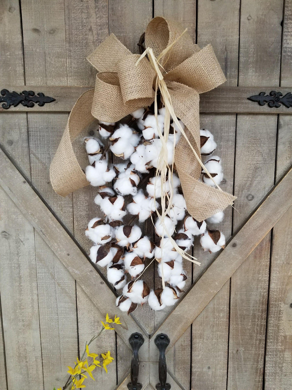Cotton Boll Swag Cotton Decor Farmhouse Decor Cotton Swag Home