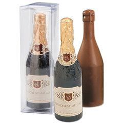Chocolate Champagne Bottle - Milk Chocolate - Retro Candy, Glass Bottle Sodas & Quirky Gifts - Blooms Candy & Soda Pop Shop