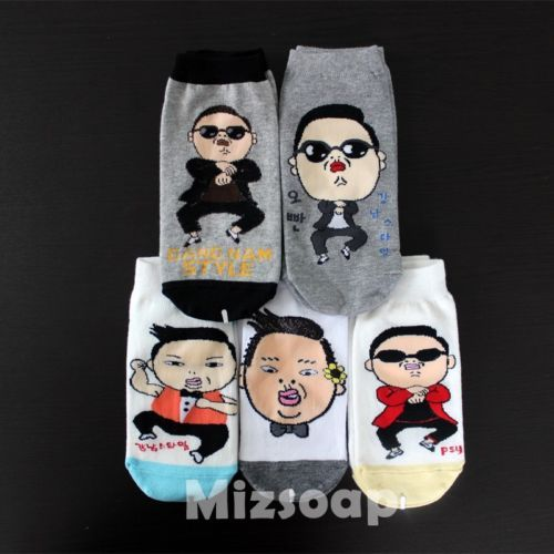 mizsoap-PSY-KPOP-Korean-super-star-character-socks-Gangnam-style-select-1pairs