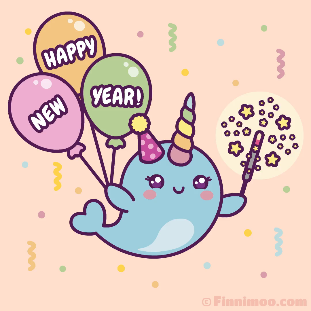 Happy New Year Wishes From Narwhal Finnimoo