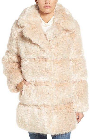 44bf4270a6ba8 Women s Kate Spade New York Grooved Faux Fur Coat