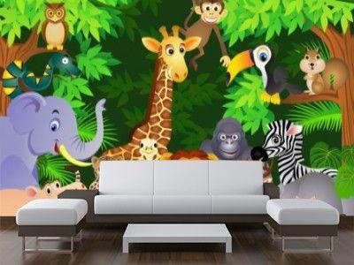 Foto Mural Animales Selva Infantiles Ref 33566104 Cosas Para