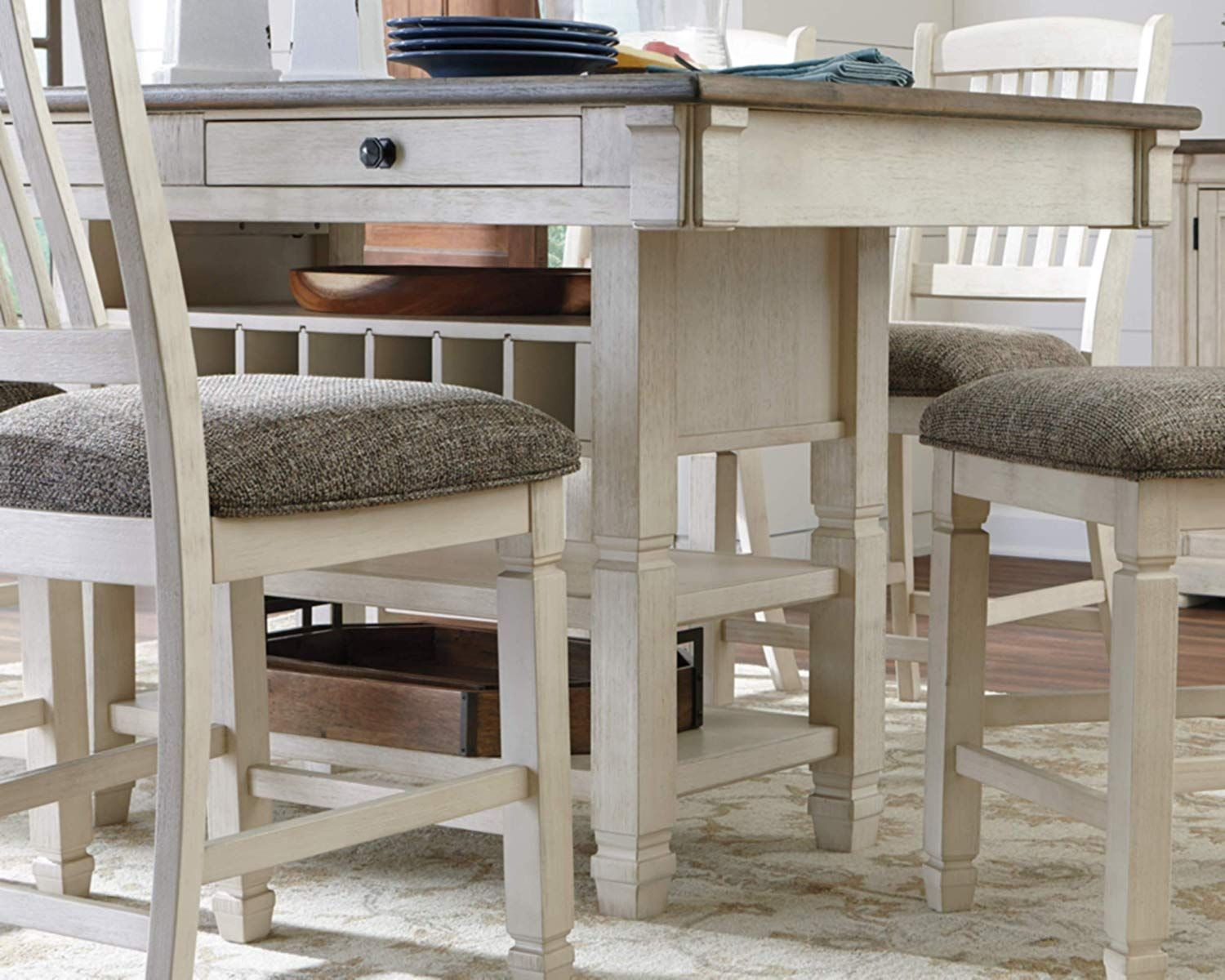 Ashley Furniture Signature Design Bolanburg Counter Height Dining Room Table Counter Height Dining Room