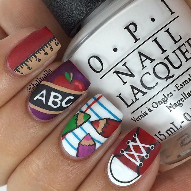 Instagram media hdinails - Back to School #nail #nails #nailart ...