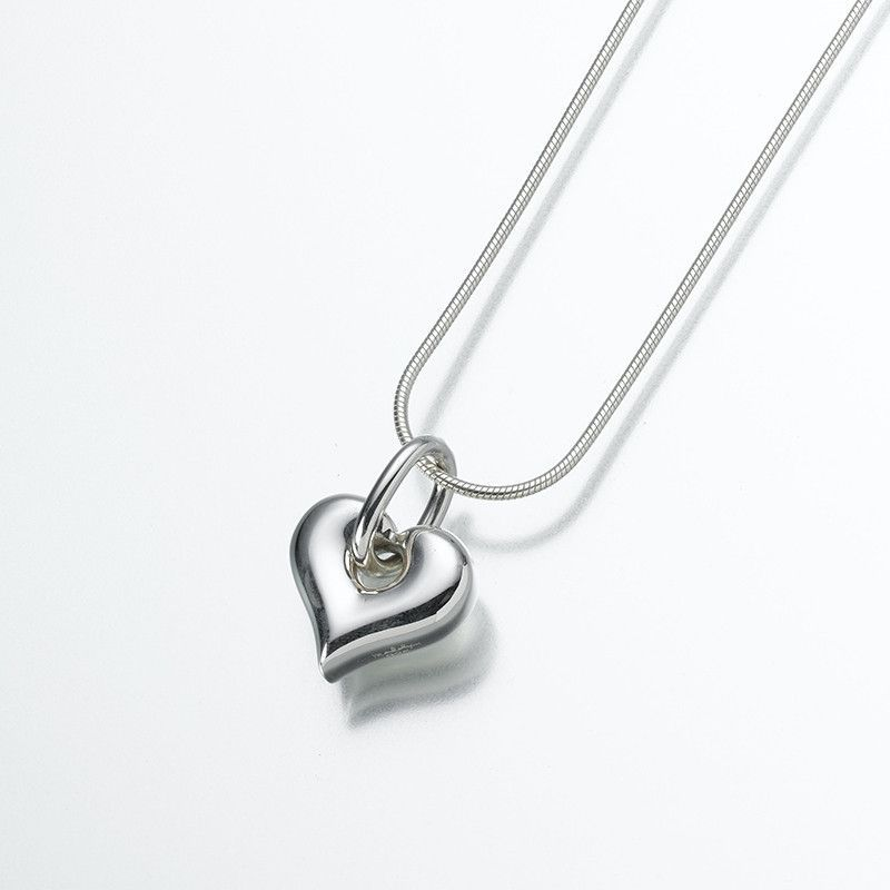 Silver puff heart cremation pendant pendants cremation jewelry silver puff heart cremation pendant solutioingenieria Choice Image