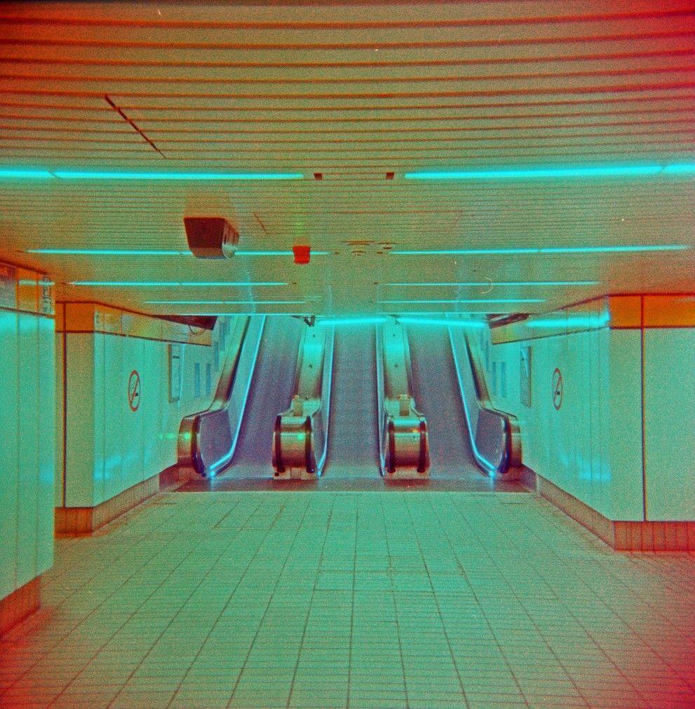 Escalators At Monument Metro Station, Newcastle Upon Tyne