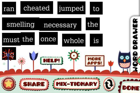 Poetry Creator App (Free) Mash up vocabulary packs with