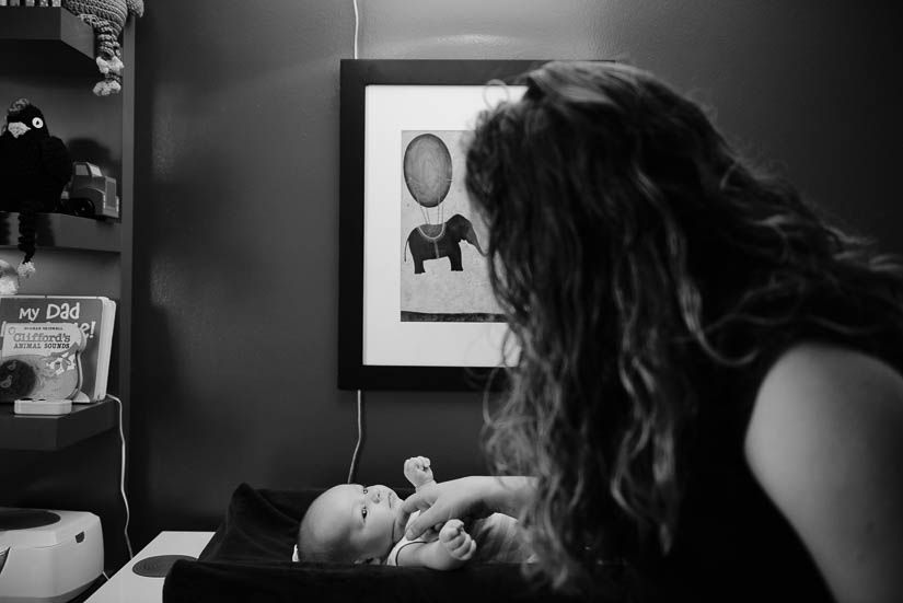 Candid, photojournalistic newborn photography in Northern Virginia