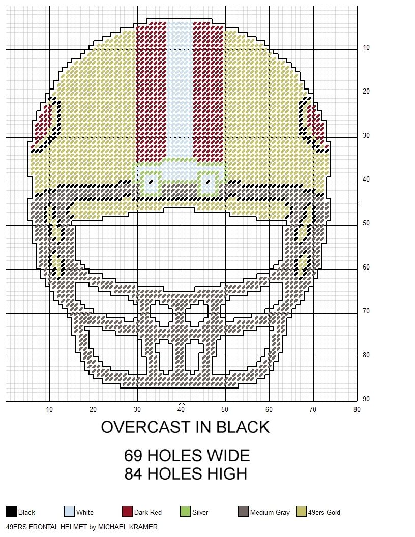 San francisco 49ers nfl frontal view football helmet plastic san francisco 49ers nfl frontal view football helmet plastic canvas pattern by michael kramer bankloansurffo Choice Image
