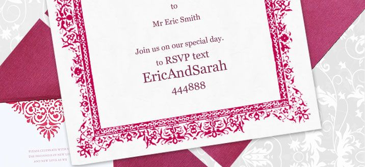 Proper Way To Stuff Wedding Invitations: Text Message And/or QR Code RSVP's Printed Right On Your