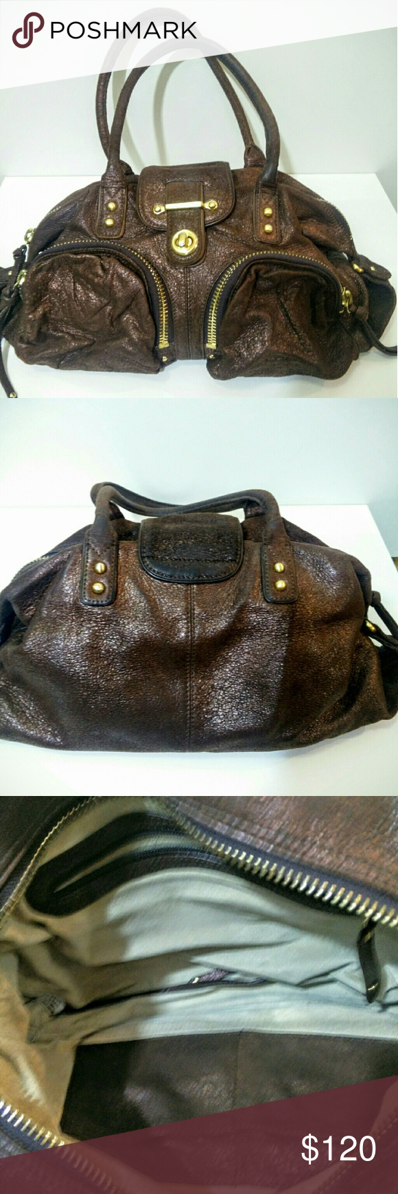 Hcl handcrafted leather goods - Botkier Bronze Bianca Leather Bag Authentic And Beautiful Bronze Leather Botkier Bag Gently Used And