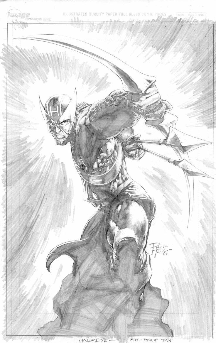 Hawkeye by Phillip Tan Marvel comics art, Marvel art, Dc