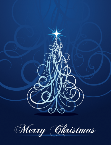 Christmas Card In Royal Blue And Silver Bebe Love This Holiday Greeting Christmas Tree Graphic Christmas Graphics Blue Christmas Tree