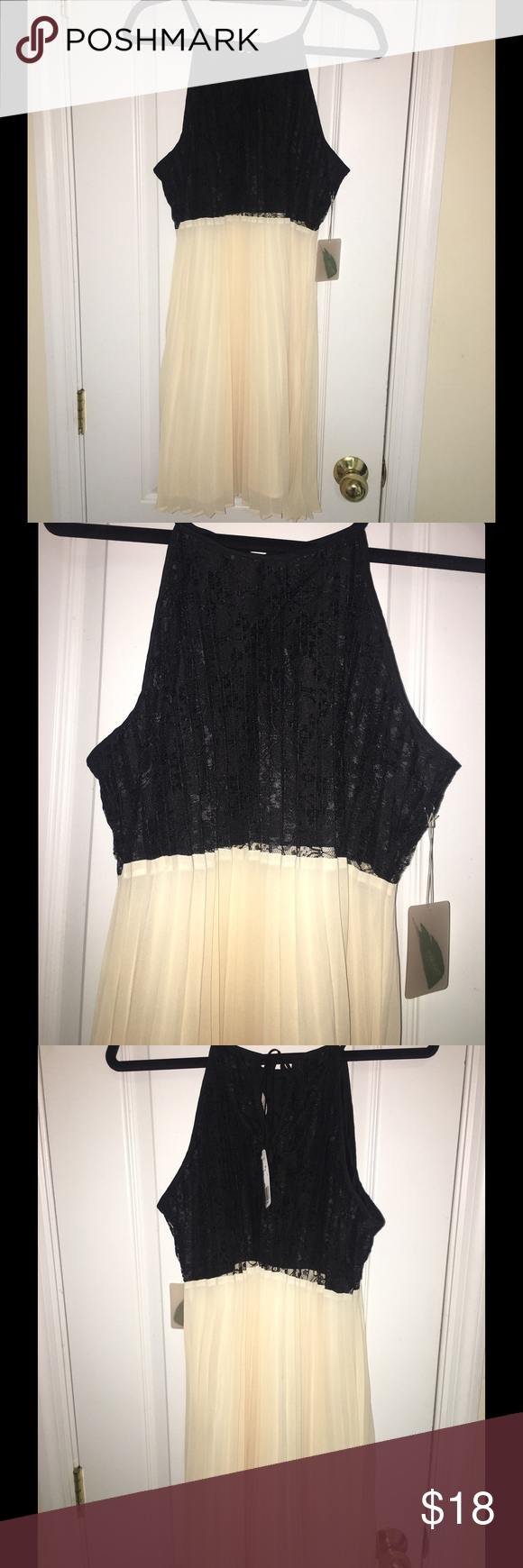Dress🖤 Adorable black & cream dress, brand new with tags. Forever 21 Dresses Midi