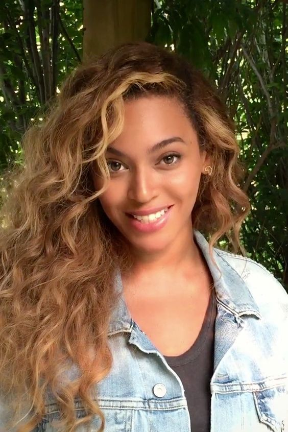 Beyonce Hairstyle Strawberry Blonde Curly Virgin Brazilian Hair