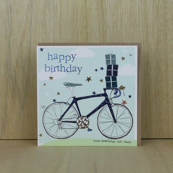 Birthday Card With A Cycling Theme Cycling Birthday Card Etsy Birthday Cards Dog Birthday Card Birthday Cards For Men