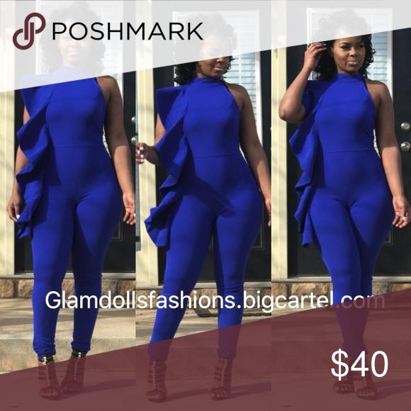 Royal Blue Jumpsuit Wwwglamdollsfashioncom Pinterest