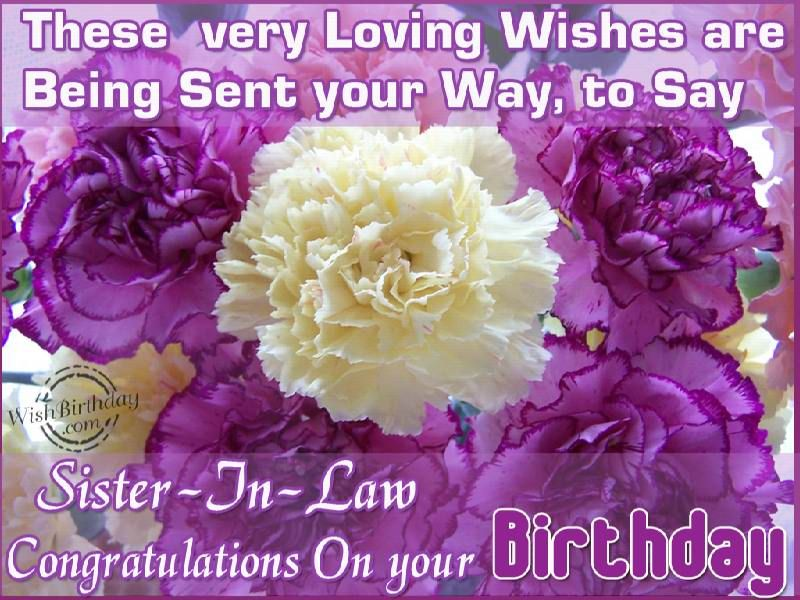 Birthday Cards Quotes For Sister ~ Sister in law birthday sayings go back u e gallery for u e birthday
