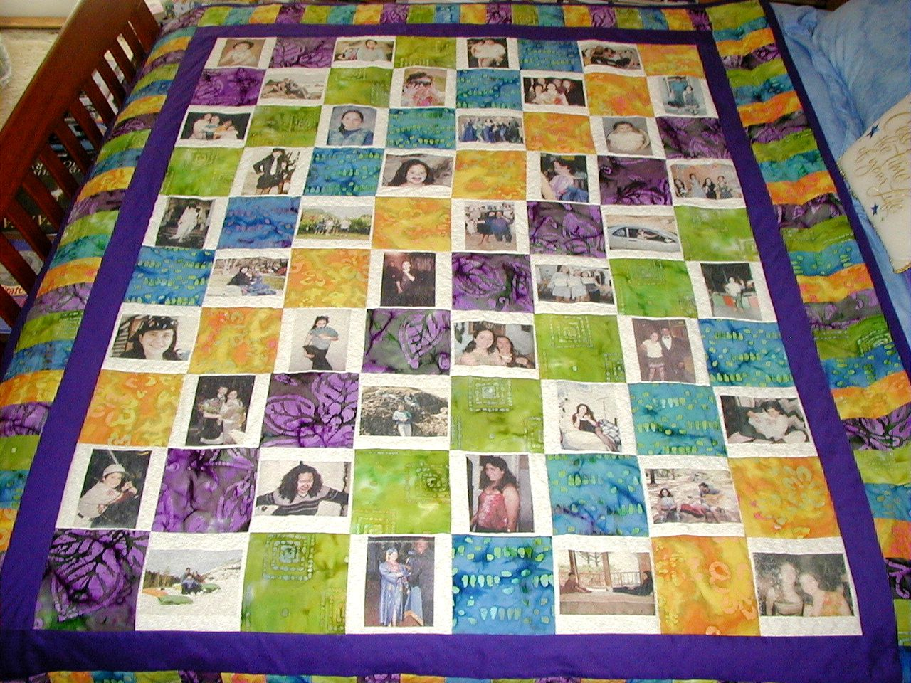 The memory quilt is such a wonderful gift. Description from ... : how to make memory quilts - Adamdwight.com