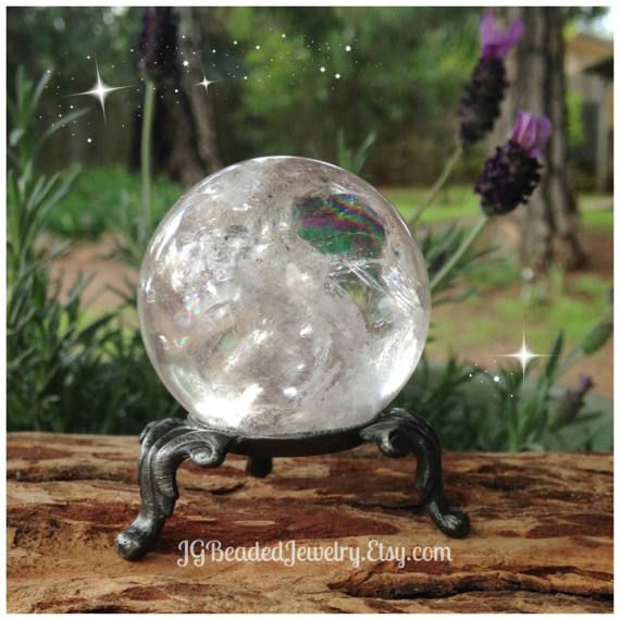 Crystal Ball Display Stand Three Legged Sphere Holder Ornate Etsy Crystal Ball Wiccan Decor Large Crystals