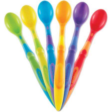 BPA free Soft-Tip Bite Infant Toddler Boys//Girls Feeding Eating Safe Spoons 6PK