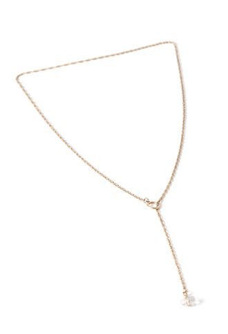 Faux Crystal Lariat Necklace | Forever 21 - 1000053707