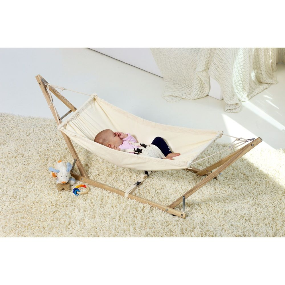 This wonderful Baby Hammock and Stand allows parents to keep their
