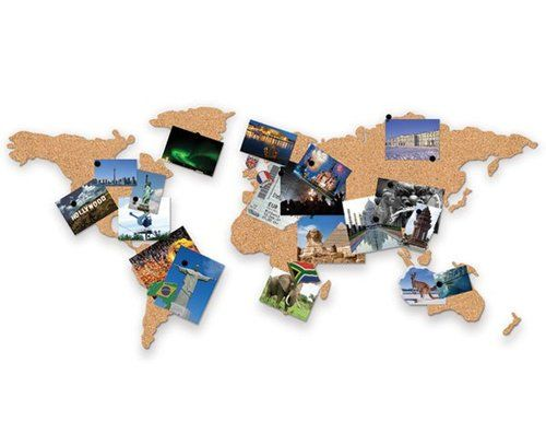 Novelty corkboard map of the world self adhesive cork notice board should have been started a map to pin all my travels a great gift idea for the world traveller ebay uk ebay gumiabroncs Gallery