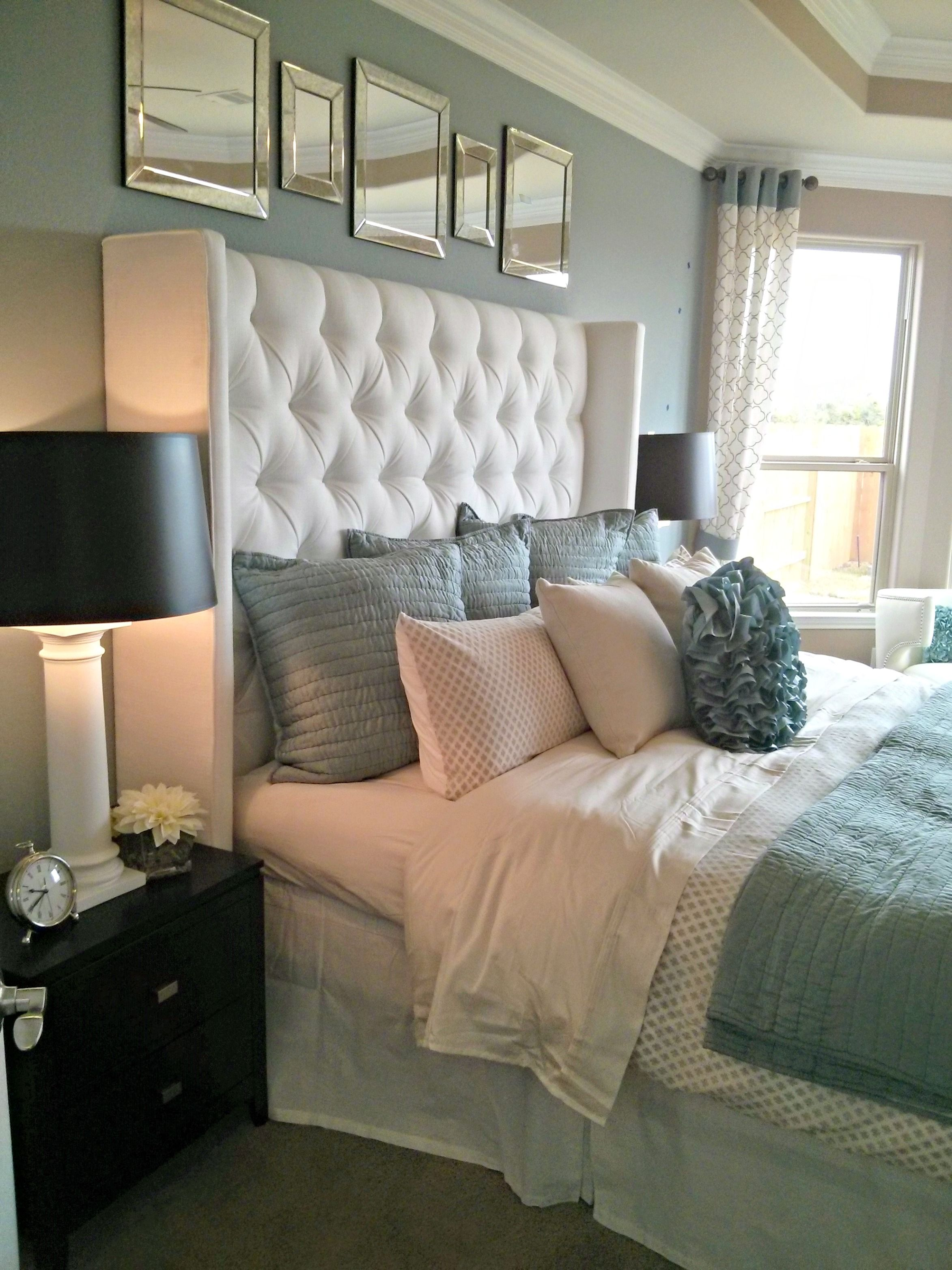 Master bedroom decorating ideas gray  What I Learned from a Model Home Master Bedroom  Ideas for the
