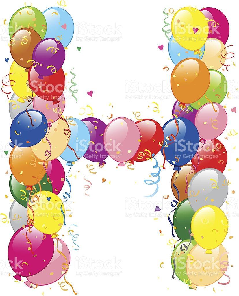 Vector illustration of decorative balloons h letter balloons decorative balloons h letter stock vector art 21447362 istock altavistaventures Choice Image