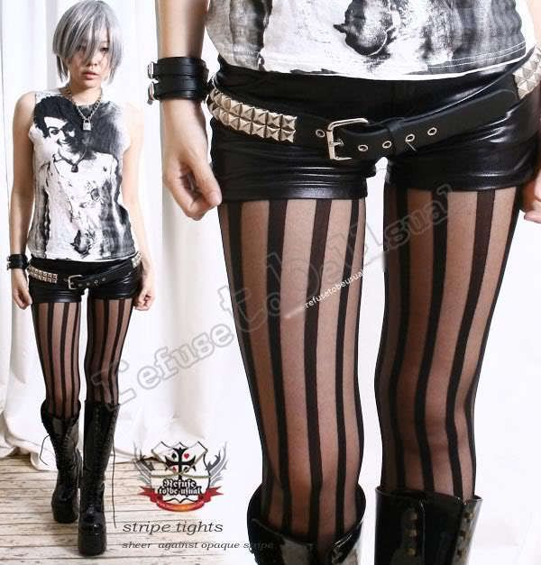 White Skull Lace Top Thi Hi Stockings Harajuku Opaque Pirate Gothic Punk Lolita