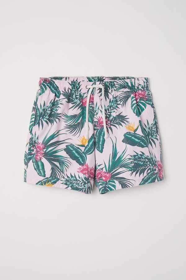 e6e0fe388c H&M H & M - Swim Shorts - Light pink/flowers - Men | Products | Swim ...