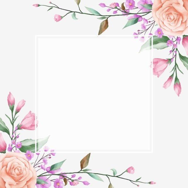 Lindo Quadro Floral Com Moldura Branca Quadrada Floral Aguarela Jardim Imagem Png E Vetor Para Download Gratuito In 2021 Photoshop Backgrounds Free Flower Frame Peonies Background
