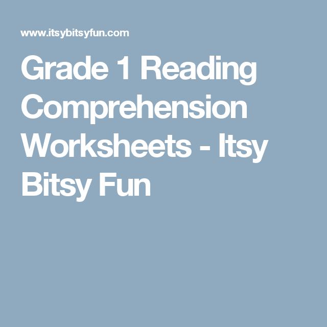 Grade 1 Reading Comprehension Worksheets | Reading comprehension ...