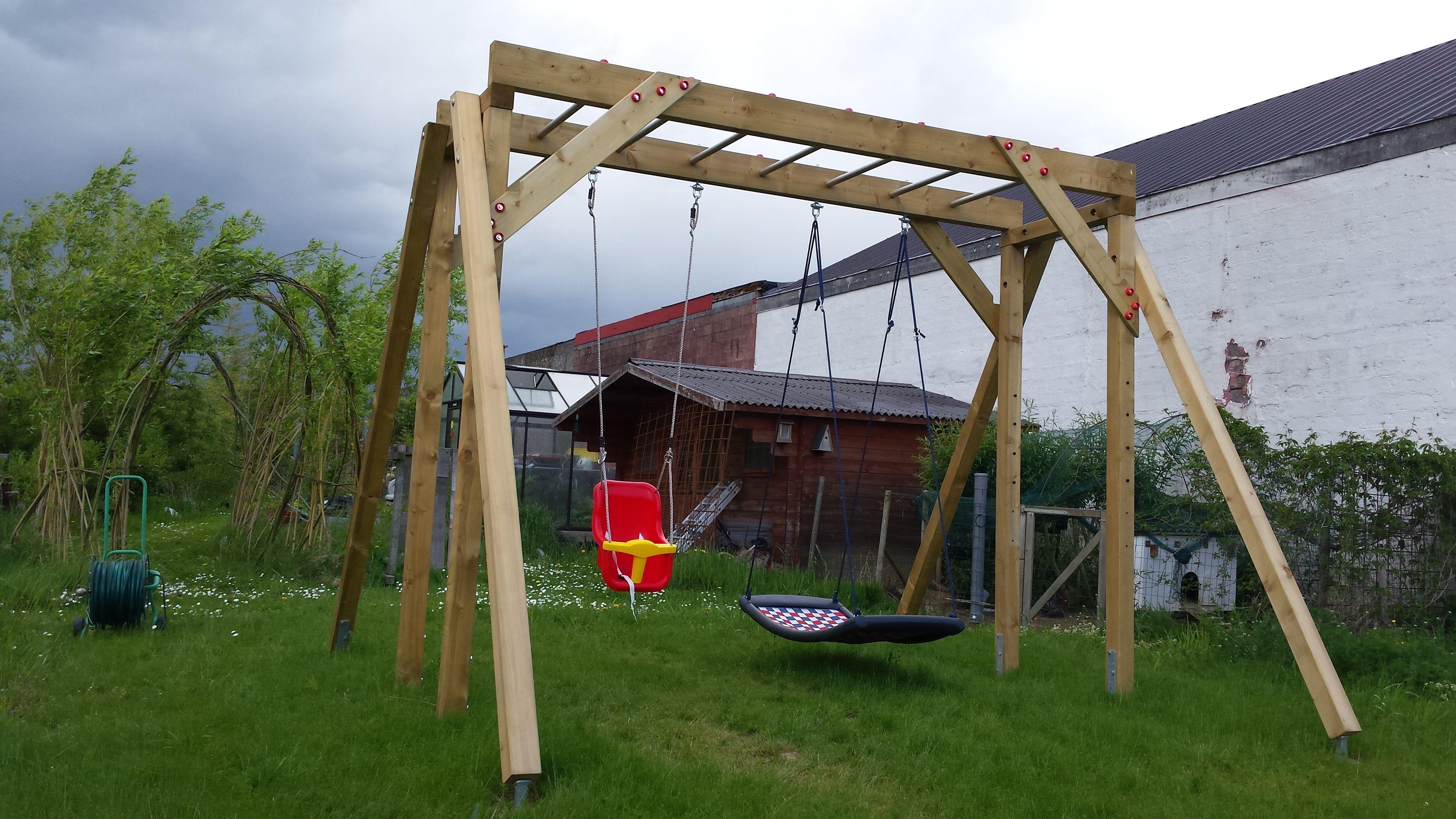 Beste schommel met klimrek | swing CE-77