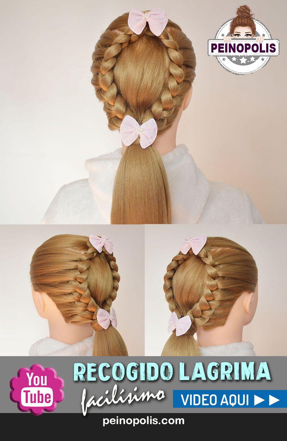 trenza lagrima o gota un peinado facil y rapido para cabello largo - Peinado Facil