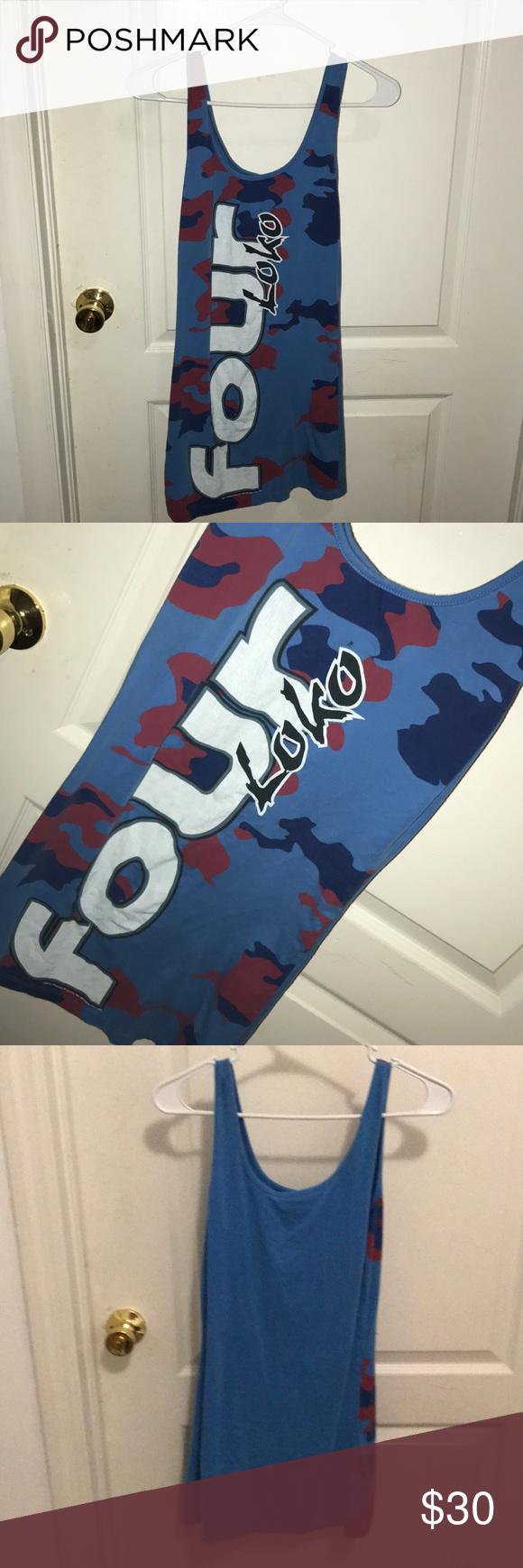 Four loko dress This one of kind four loko dress will make you the talk of any event! I wore it once for Halloween but you could also wear it to raves concerts & themed parties! Everyone LOVES it! Lol Dresses Mini