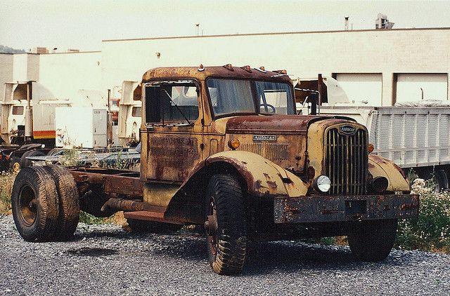 40 S Autocar Big Trucks Trucks Abandoned Cars