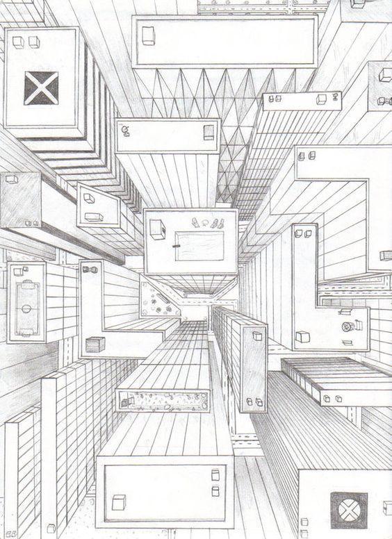 Disegnare in prospettiva disegno prospettico punto di for Disegnare una stanza in 3d