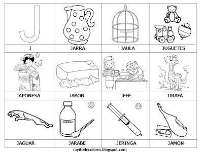 Alfabeto En Palabras De La A A La Z Actividades De Letras Palabras Con G Letras Del Abecedario