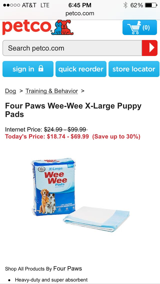Petco Puppy Pads Internet Prices Dog Training