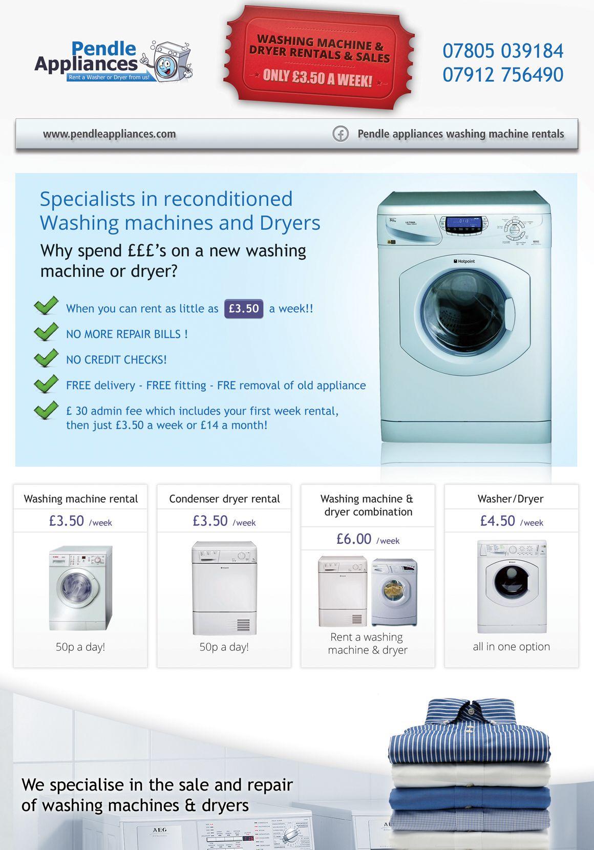 Flyer Design Washing Machine Dryer Washing Machine