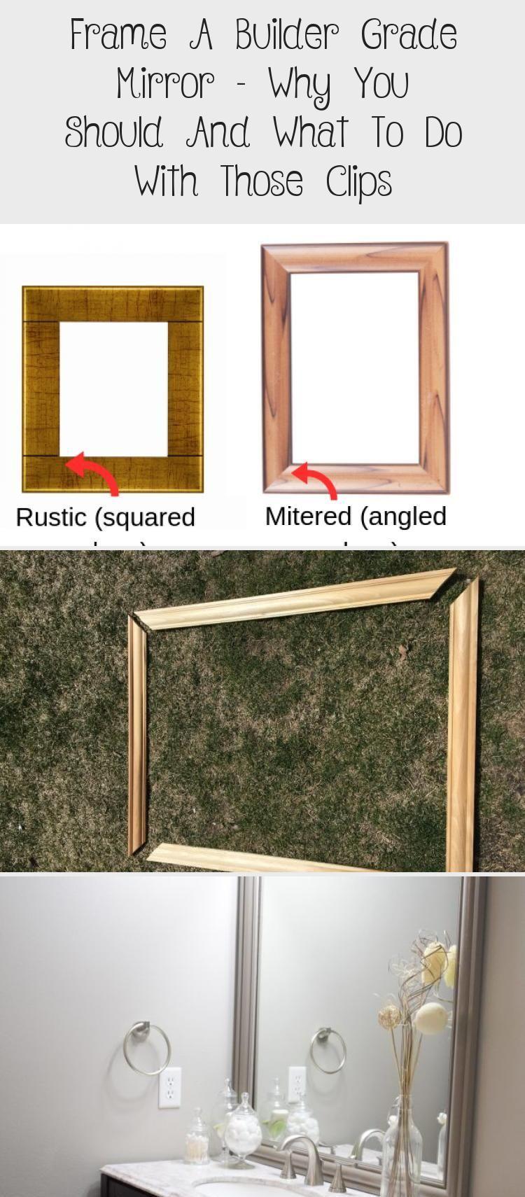Framing Your Builder Grade Bathroom Mirror Makes Your Whole Bathroom Look Better Bathro Builder Grade Bathroom Mirror Frame Frame