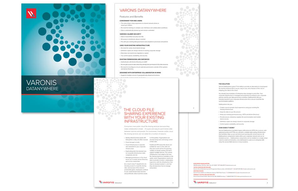 Varonis DatAnywhere Product Data Sheet | Design, Illustrations ...