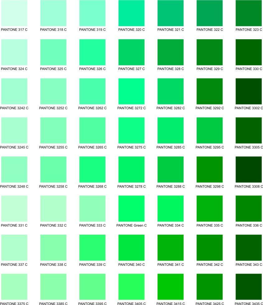 greens colorpantone pinterest pantone green