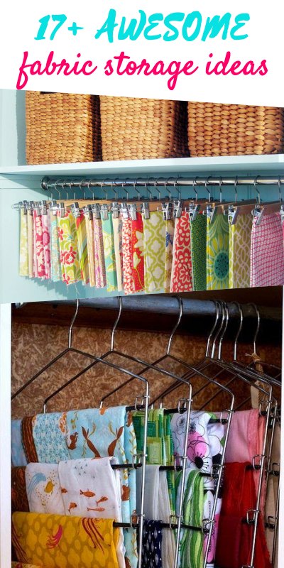 Incroyable Fabric Storage Ideas For Sewing Rooms. I Purchased The Multi Pant Hangers  At Dollar